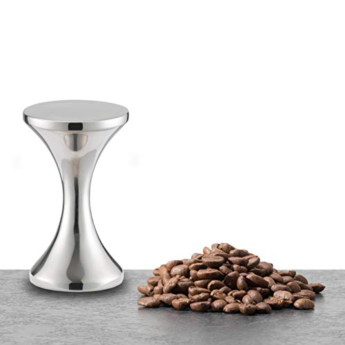 KitchenCraft Le'Xpress Two Sided Coffee Tamper, Stainless Steel, 52 mm/58 mm