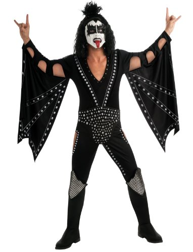 Kiss Deluxe The Demon Costume, Black, X-Large (Sexy Demon Costume)