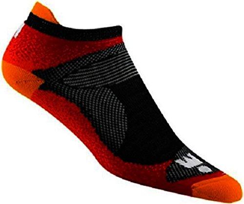 8f47b8675fd3 Galleon - Wigwam Ironman Flash Pro Sock Charcoal Orange Large