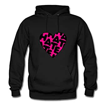 Black Regular Different Heart Hate Hoodies X-large Women Custom