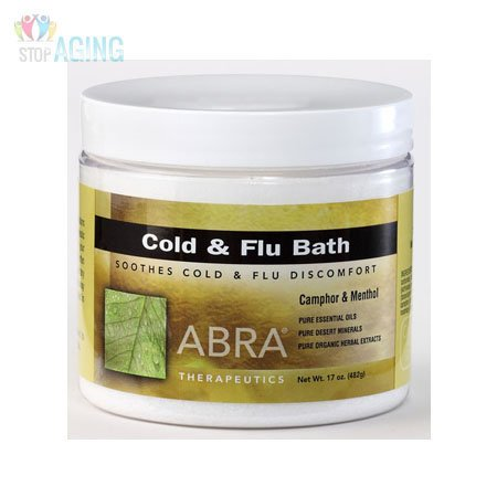 Abra Therapeutics Cold and Flu Bath Camphor and Menthol 17 oz (Bath Flu Salt)