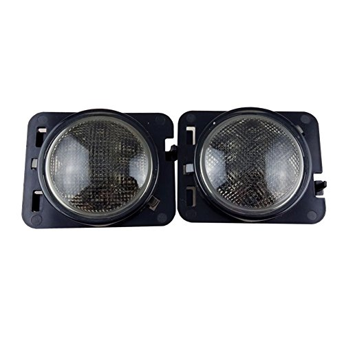 Anzene LED Side Maker Lights for Jeep Wrangler Amber Front Fender Flares Parking Turn Lamp Bulb Indicator Lens: