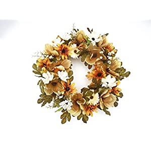 Fall Cemetery Wreath featuring Autumn Blooms 10