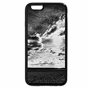 iPhone 6S Case, iPhone 6 Case (Black & White) - beautiful sky over cultivated fields