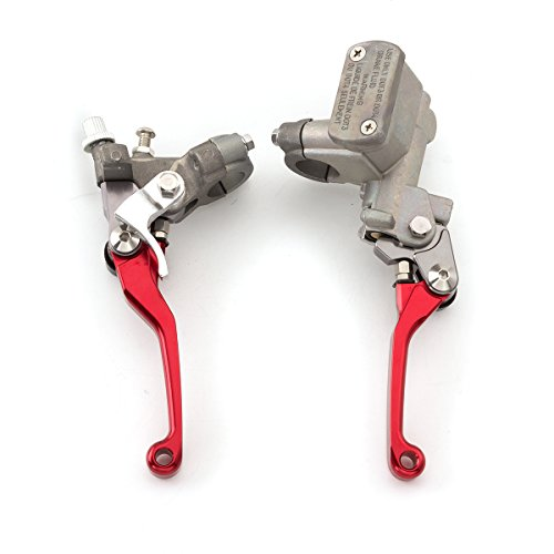 FXCNC Racing Motorcycle Brake Master Cylinder Reservoir Clutch Lever Fit For Honda CR125R/CR250R 96-07,CR500R 92-01,CRF150R 07-16,CRF250R/X 04-16,CRF450R 02-06,CRF450X ()