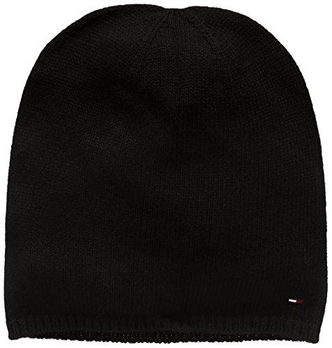 Hilfiger Denim Herren Strickmütze Thdm Sweaterknit Hat 19, Schwarz (Tommy Black 078), One size