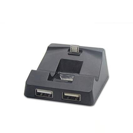 Fangfeen Para PS4 Cargador Mando inalámbrico Soporte Plug ...