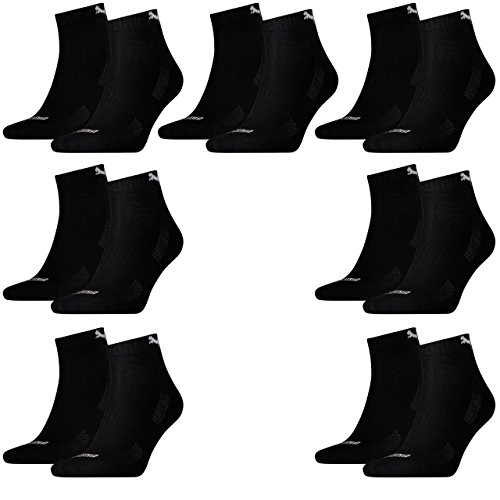 best seller best prices cheap online 14 pairs of Puma Quarter socks with terry sole Gr. 35-46 Unisex Cushioned Short Socks 200 - Black cheap tumblr sale excellent 5msWNyo