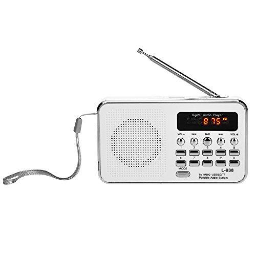 Docooler L-938 Mini FM Radio Digital Portable 3W Stereo Speaker MP3 Audio Player High Fidelity Sound Quality w/ 1.5 Inch Display Screen Support USB Drive TF SD MMC Card