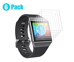 Kartice for Fitbit Ionic Screen Protector [6-PACK], Fitbit Ionic Screen Protector Full Coverage Screen HD Clear Film Anti-Bubble Shield for Fitbit Ionic Smart Watch