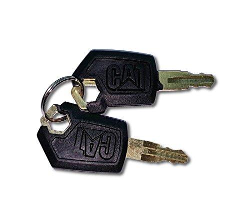 (2) Key for CAT Caterpillar Heavy Equipment (Caterpillar Key)