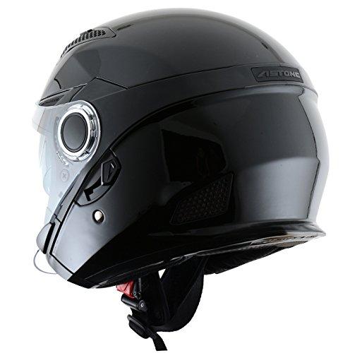 Astone Helmets fibra, Casco Jet, color Gloss Negro, talla S: Amazon.es: Coche y moto
