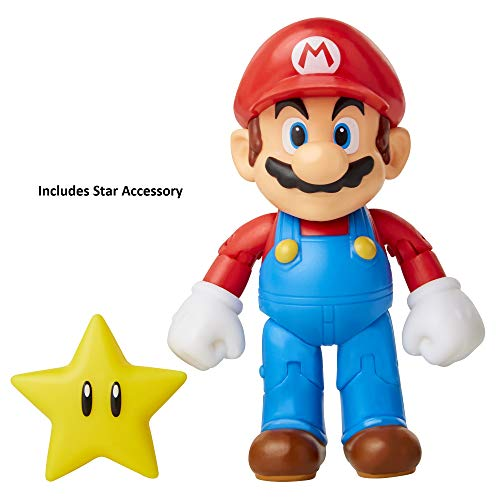 "(Nintendo Super Mario, 4"" Articulated Figure with Super Star)"