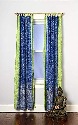 Best window curtain panel: Light-Filtering Sari Colorful Curtains Boho Curtains