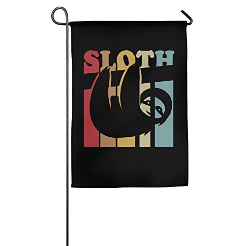 CbLLS1 Sloth On A Bicycle Graphic Garden Flag Banner Only One Side 12