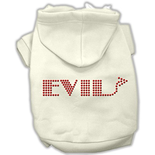 Mirage Pet Products 14-Inch Evil Hoodies, Large, Cream