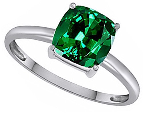 Emerald Solitaire Ring - 7