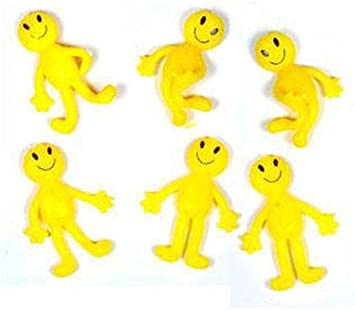 96 Stretchy Smile Men Kids Party Fun Loot Bag Filler Mini Stretch Toys Novelty