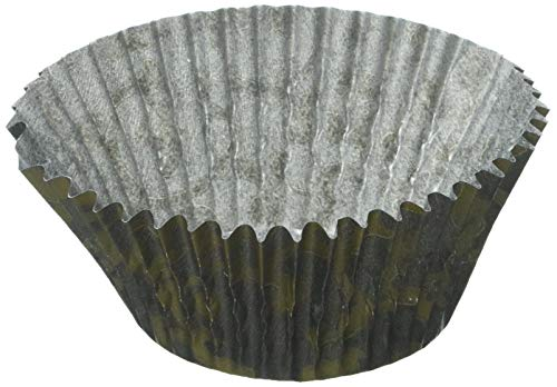 Oasis Supply 500 Count Baking Cups, Standard Size, Black and Gold Vine Pattern