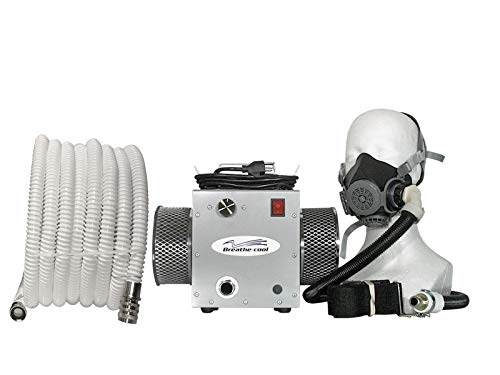 Breathecool II Supplied Fresh Air Respirator System w/half face mask w/25' air hose