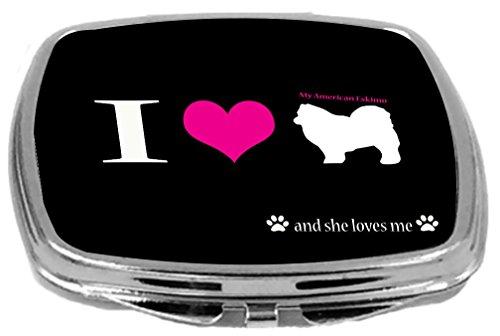My Dog Design Compact Mirror, American Eskimo, 3 Ounce ()