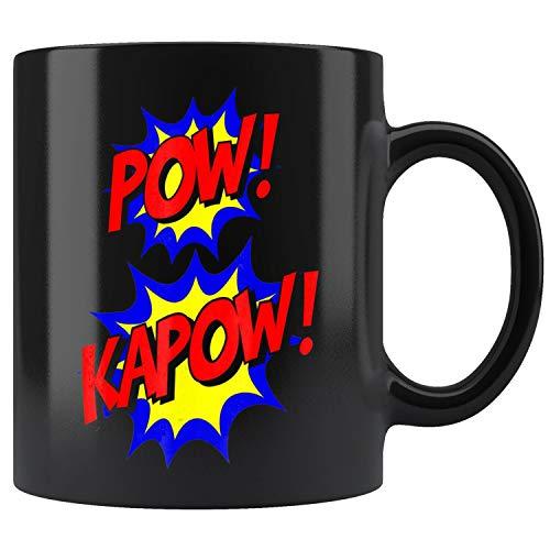 Pow Kapow Easy Funny Superhero Halloween Costume Mug Coffee Mug 11oz Gift Tea Cups 11oz ()