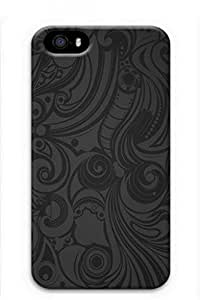 iCustomonline Grey Decorative Pattern Pattern Designs Case Back Cover for iPhone 4 4S 3D PC Material by supermalls