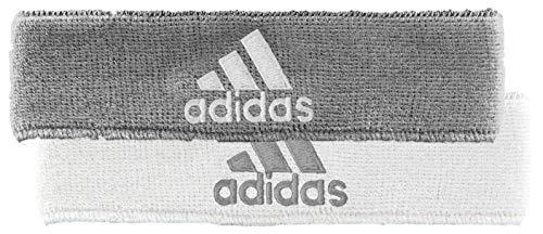 adidas Unisex Interval Reversible Headband, Heathered Aluminum 2/White White/Heathered Aluminu, ONE SIZE