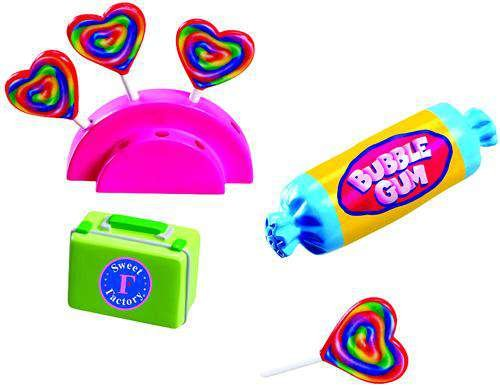 MiWorld Collector Pack Sweet Factory Candy Set 7 Piece Set [1 Candy Stand, 4 Lollipops, 1 Lunch Box & 1 Bubble Gum]
