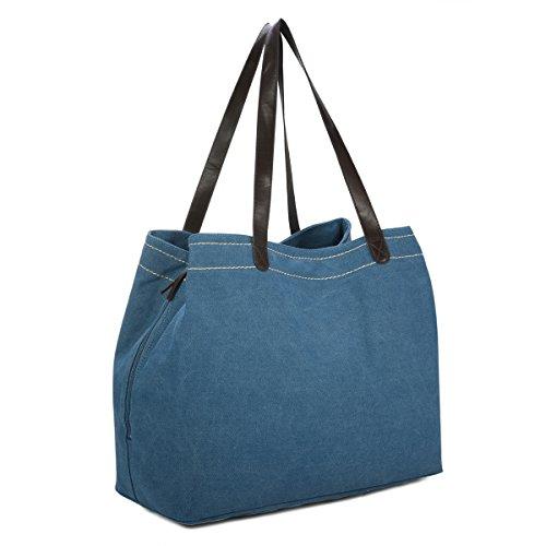 Sac Shopper Femme, Gracosy Multi-fonction Grand Compartiment Sports Voyage Tissu Toile Sac Port