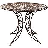 Nostalgie Tisch Gartentisch Bistrotisch Eisen 13kg Antik-Stil 100cm braun