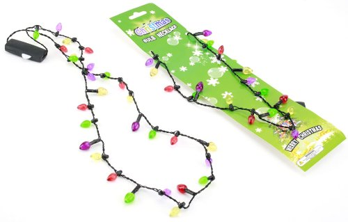 merry christmas fairy lights necklace with 6 flashing lights amazoncouk kitchen home