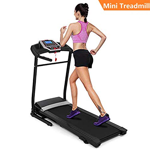 Hurbo 2.25HP Folding Electric Support Motorized Power Running Fitness Jogging Incline Machine Equipment Treadmill for Home Indoor Gym (Black)