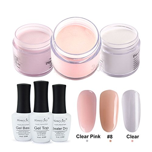 4 in 1 Tool Kits 28g/Box Nude Pink Dipping Powder Without Lamp Cure Nails Dip Powder Summer Gel Nail Color Powder Natural Dry by Honey Joy
