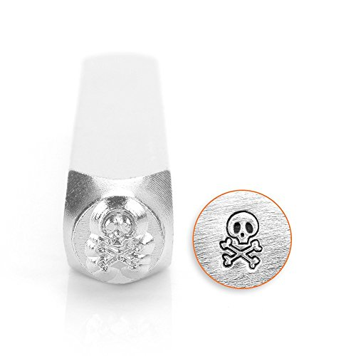 - ImpressArt SCDESIGN-1515A Skull and Bones Design Stamps, 6 mm
