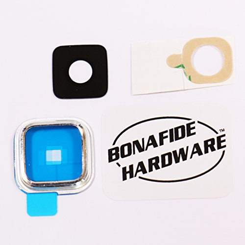Bonafide HardwareTM - Samsung Galaxy S5 Camera Glass Lens Replacement Part Repair (Silver)