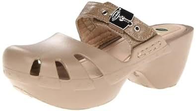 Dr. Scholl's Women's Dance Rubber Platform Sandal,Silver,7 M US