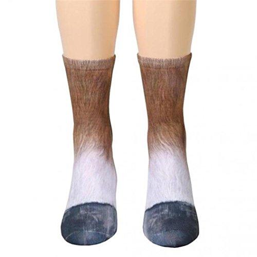callm Kids Socks Boy Girls Long Animal Paw Socks Sublimated Print Paw Crew Socks (New Kids Socks Horse)