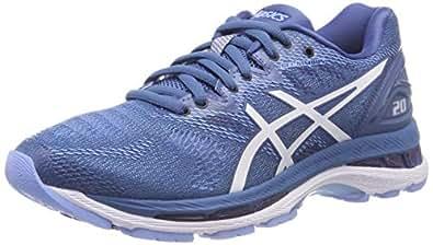 Asics Womens Gel-Nimbus 20 Road Running Shoes, Blue (Azure/White),6 US,37 EU