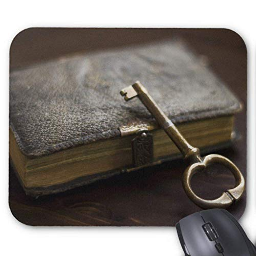 Leather Bound Diary Book Under Lock and Key Mouse Pad