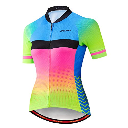 Women's Cycling Jersey Short Sleeve Biking Shirts Bike Clothing Bicycle Jacket with Pockets Breathable