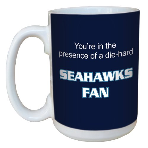 Tree-Free Greetings lm44135 Seahawks Football Fan Ceramic Mug with Full-Sized Handle, 15-Ounce