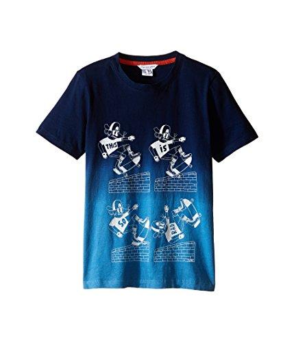 Price comparison product image Little Marc Jacobs Boy's Jersey Tee Shirt Dip Dye (Little Kids / Big Kids) Dark Blue T-Shirt 6 (Little Kids)