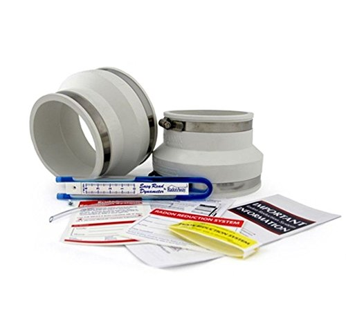 - Radon Fan Installation Kit (Rubber couplings, manometer and system labels) (4x6, White)