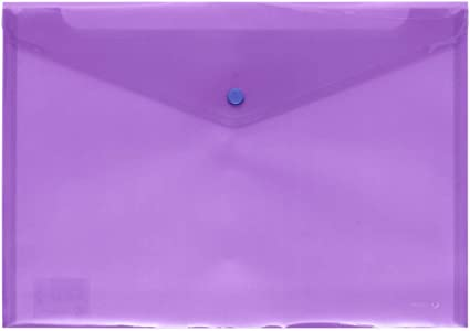 Grafoplás 04871235-Carpeta sobre de plastico tamaño folio color violeta: Amazon.es: Oficina y papelería