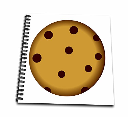 3dRose db_43214_2 Large Chocolate Chip Cookie Cartoon - Memory Book, 12 by 12