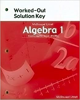 Mcdougal littell high school math worked out solution key algebra 1 mcdougal littell high school math worked out solution key algebra 1 ron larson laurie boswell 9780618020522 amazon books fandeluxe Choice Image