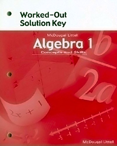 McDougal Littell High School Math: Worked-Out Solution Key Algebra 1