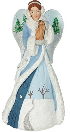 (AngelStar 20418 Winter Angel Figurine - Joy, Light Blue)