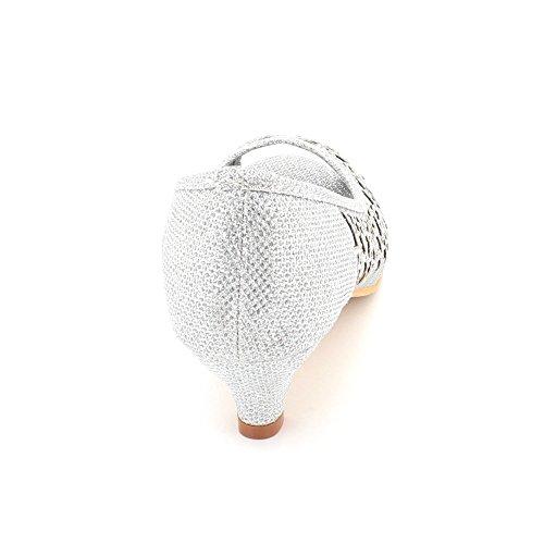 Aarz Zapatos plata La Bajo Tribunales London Del Negro De Tarde Champagne Mujeres Plata Tacón Desgaste Diamante Dedo Pie Sandalias Noche Señoras Las Nupcial Tamaño Abierto Oro rwPT1Wrq